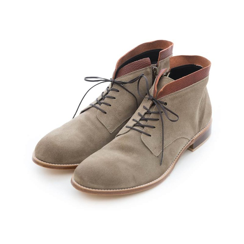 ARGIS leather bottom two-color stitching desert boots #42215Camel - Japanese handmade