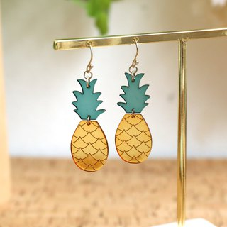 Japanese handmade accessories - pineapple earrings
