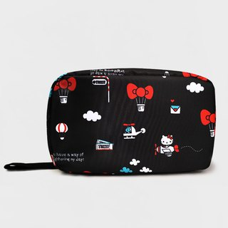 Murmur travel storage tri-fold wash bag - Hello Kitty hot air balloon