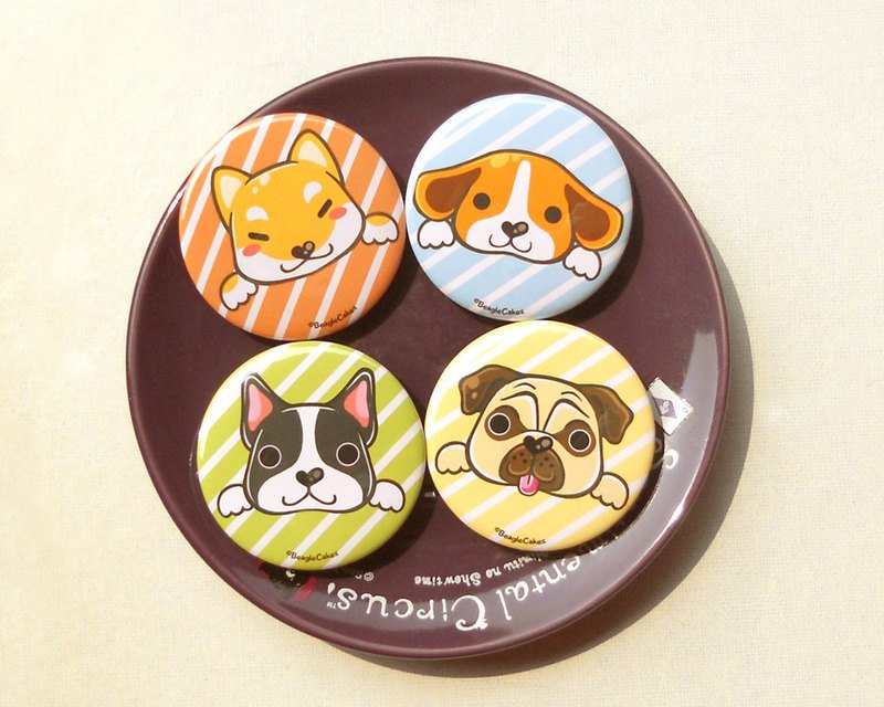 Cute Dogs Pins - Set of 4 Pieces