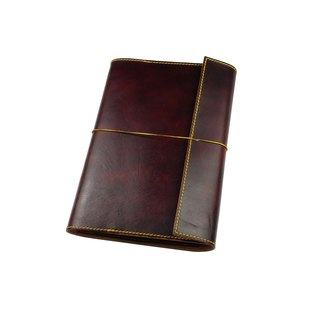 A5 activity pad notebook / hand dyeing / double needle hand sewing / custom / Italian vegetable tanned leather