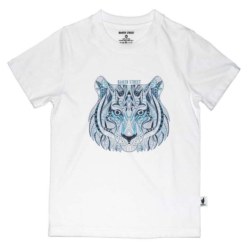 British Fashion Brand -Baker Street- Zentangle Tigers Printed T-shirt for Kids