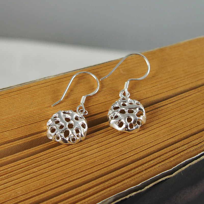 [If] wind sterling silver earrings handmade silver