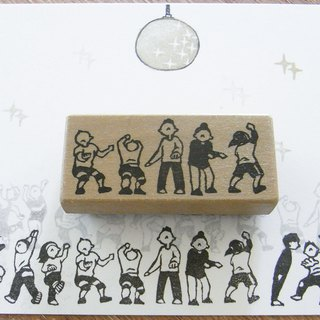 Handmade rubber stamp  Dance team 2