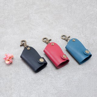 Be Two ∣ Vegetable tanned leather wafer key case / leather key case / locomotive key case