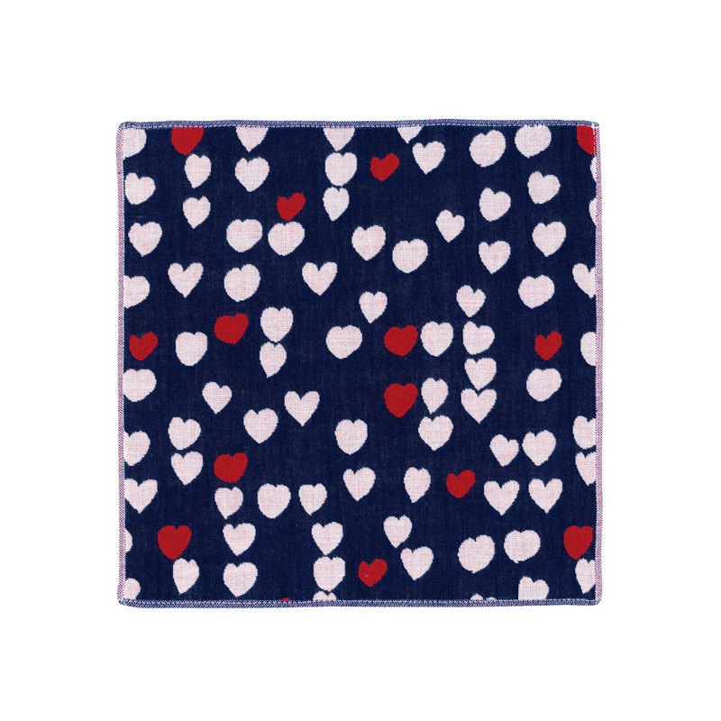 Imabari three-layered scarf - hand-painted heart