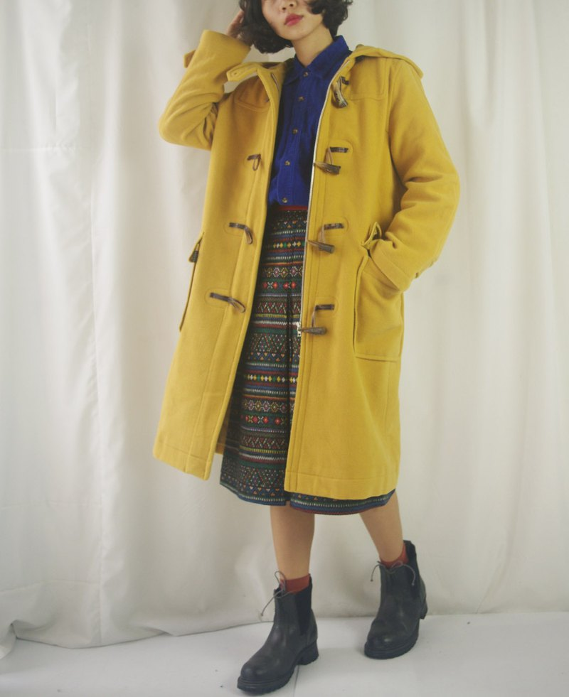 Treasure hunt vintage - vitality goose horns button wool coat