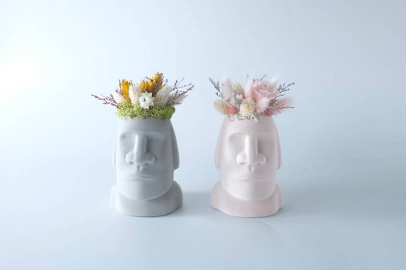 |Customer|[The face of the giant] Moai is not withered / immortal flower / dry flower / potted