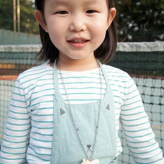 Hand knitting children cute pink green with beige nostalgic camera hanging neck with necklace BP066