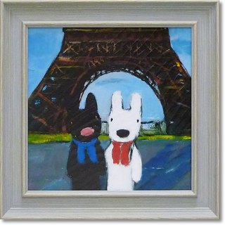 """Lisa and Caspian"" medium-sized box copy painting - Paris Tower"