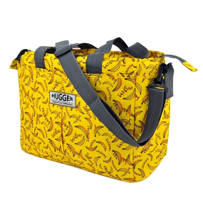 HUGGER banana banana mother bag / can be combined with children's bag parent-child fun colorful graffiti