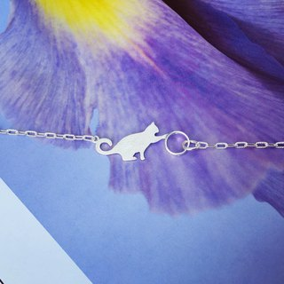 925 sterling silver naughty 喵喵 [cats playful bracelet]