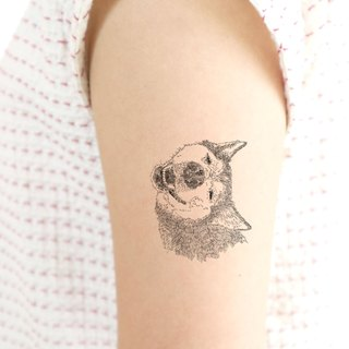 - Chiba inu Temporary Tattoo (Funny face) - 1 piece