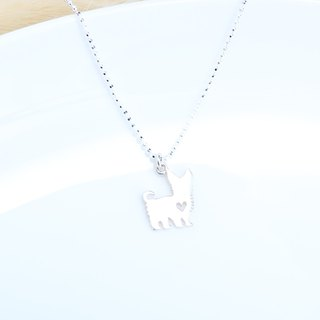 Yorkshire Dog s925 sterling silver necklace Birthday Valentine's Day gift