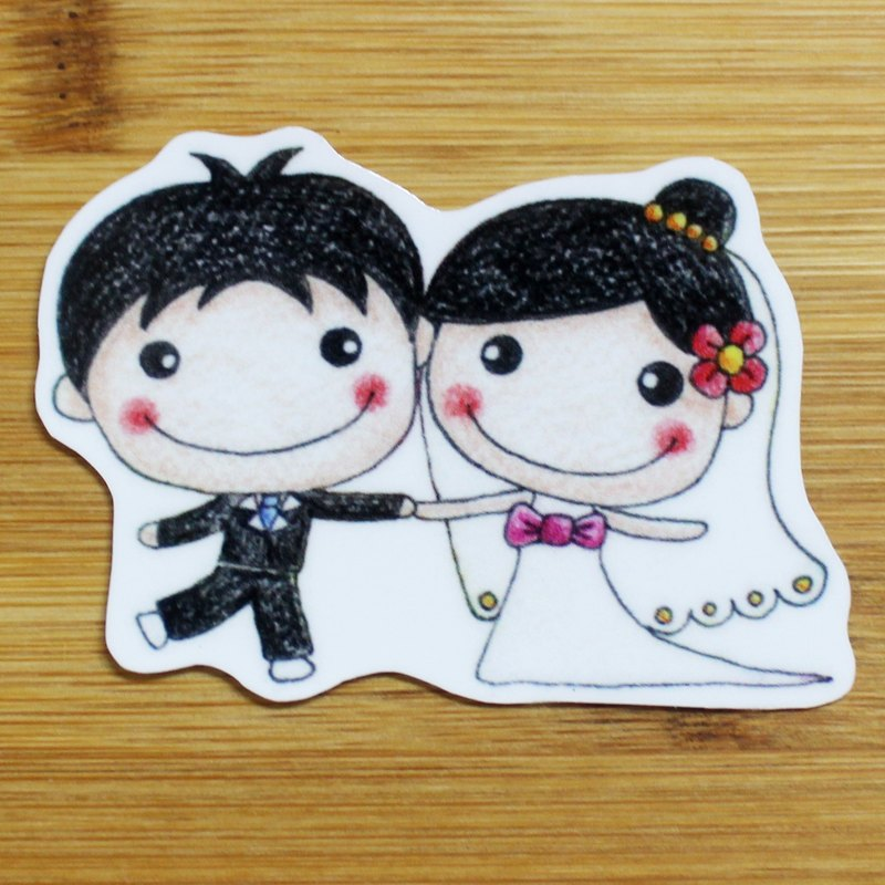 Waterproof stickers (small) _ married