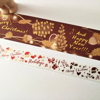 Christmas set series bronzing and paper tape daily hand account gift creative decorative stickers 3 optional