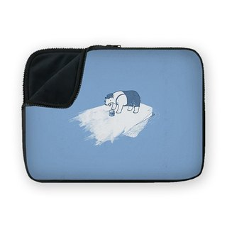 Polar bear with paint brush waterproof shock-absorbing laptop bag BQ-MSUN37