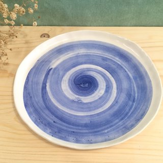 Pottery plate - blue