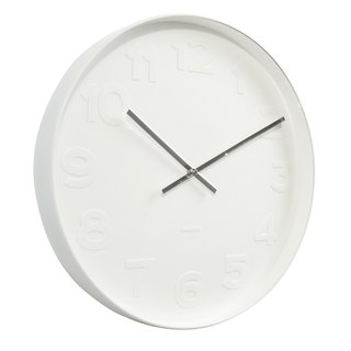 Karlsson, 51cm wall clock Mr.White numbers, white case