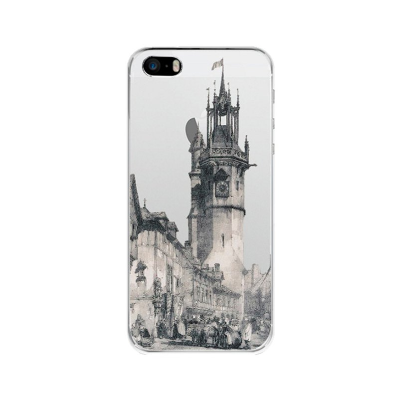iPhone case clear Samsung Galaxy case Phone hard case castle 2007