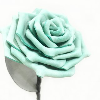 Valentine's Day selection - frost lake water green leather rose