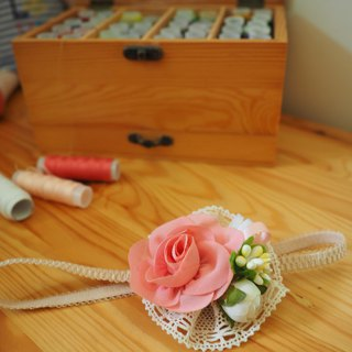 Handmade fabric flower baby/kid headband