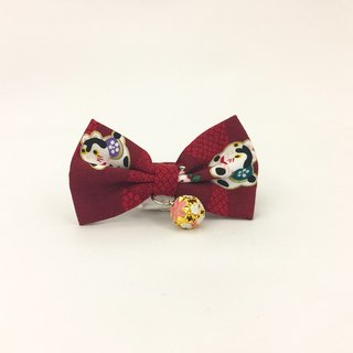 Q version of the lucky cat cat mini dog small dog bow decorative collar