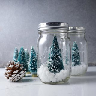 Christmas Tree Snow Maiden Glass Jar 1 In Exchange Gift Christmas Decoration Customization