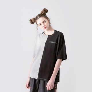 UNISEX DUAL COLOR T SHIRT / Black