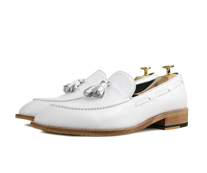 Fringed smoked old loafers -541-3