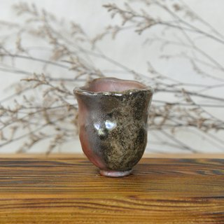 Wood fired pottery. Hand pinch small teacups grow like flowers