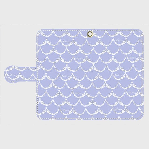 Q'iiira Android case notebook type blue ★ Mermaid's scales ★ Various sizes