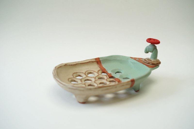 Soap dish , handmade ceramic