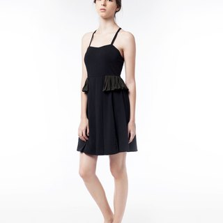 Glancez Little Black Dress With Frill