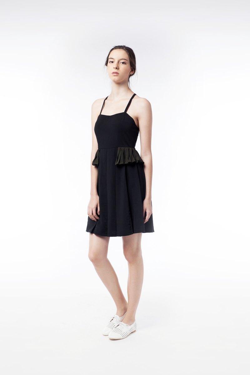 Glancez 高級雪紡小黑裙 飄逸原創設計