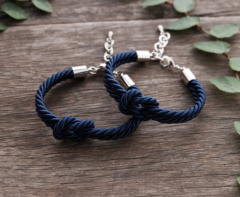 Navy blue knot rope bracelet -couple bracelet -friendship bracelet- wedding gift