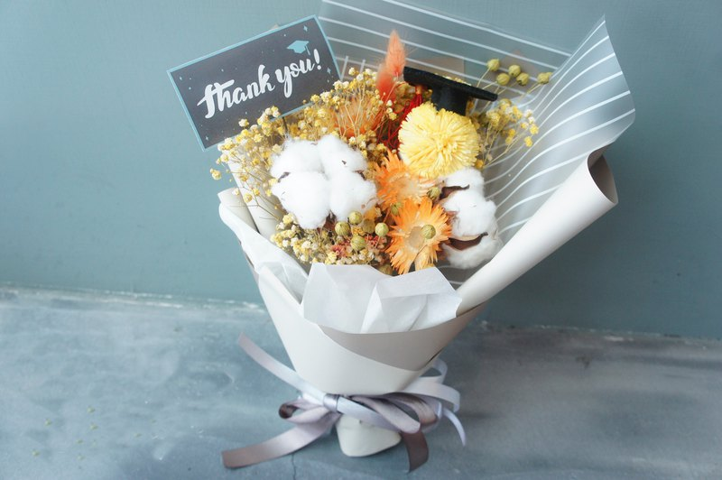 [graduation bouquet] graduation happy graduation gift present dry bouquet
