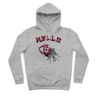 Eating strawberries - Deep Heather Grey - Hooded T-Shirt