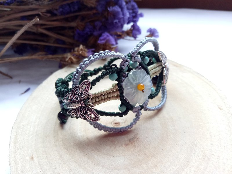 Hand-woven series ~ ice jade bracelet design