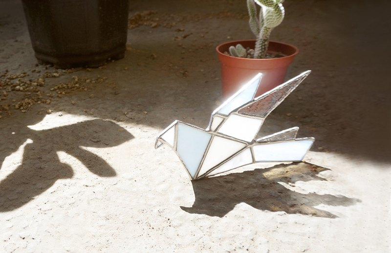 Light folding light - bird lighting origami glass mosaic