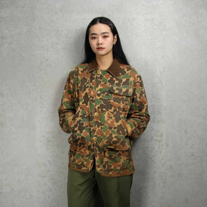 Tsubasa.Y Antique House A01 Brown Hunting Duck Camouflage Hunting Jacket, Hunting Camouflage Jacket