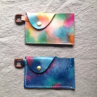 simple simple beauty travel card / business card holder _ hand-dyed hand-stitched leather