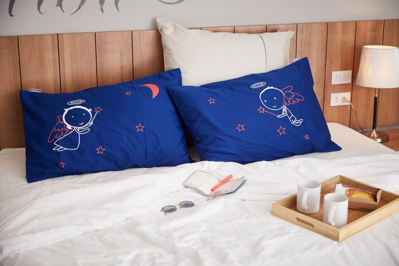 """Night Angel"" Couple Pillow Case: 013"