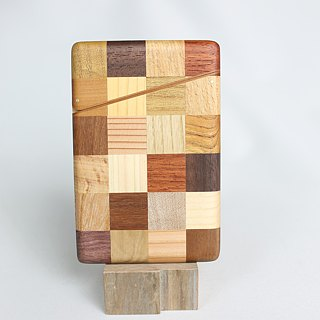 Parquet business card holder check