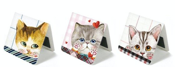 & Cabinet magnet bookmark - Peekaboo Cats