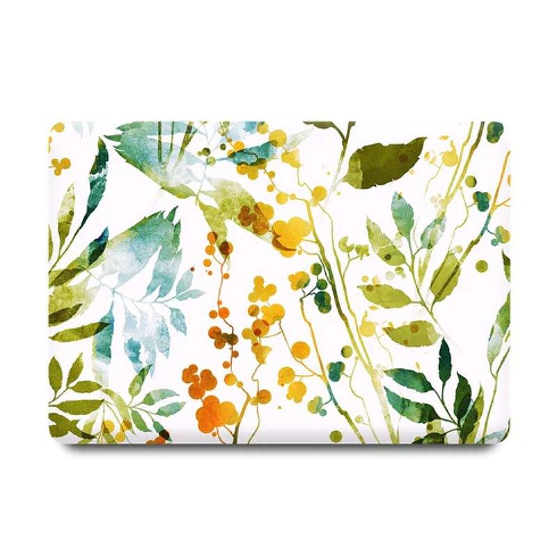 SlickCase 香港 | Faint Watercolor Leaves MacBook 保護殻