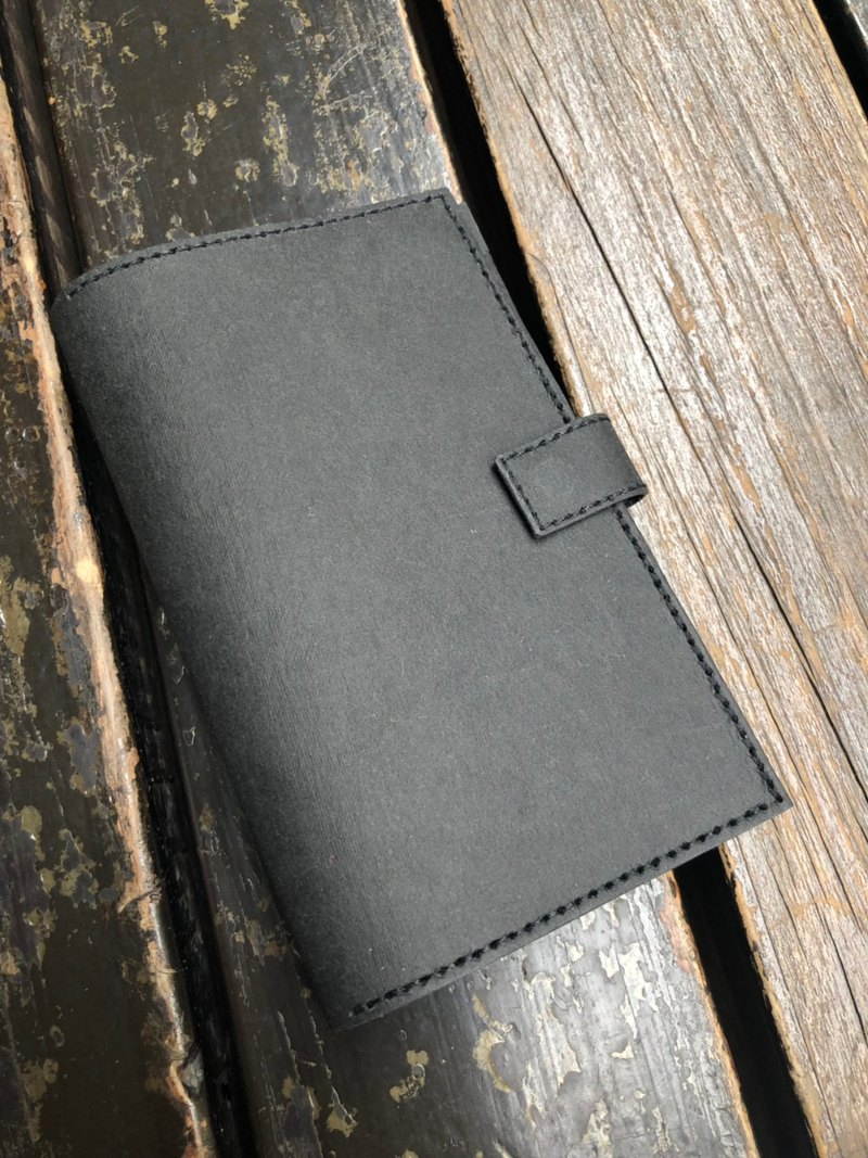 Washed kraft paper multi-function passport cover (black)