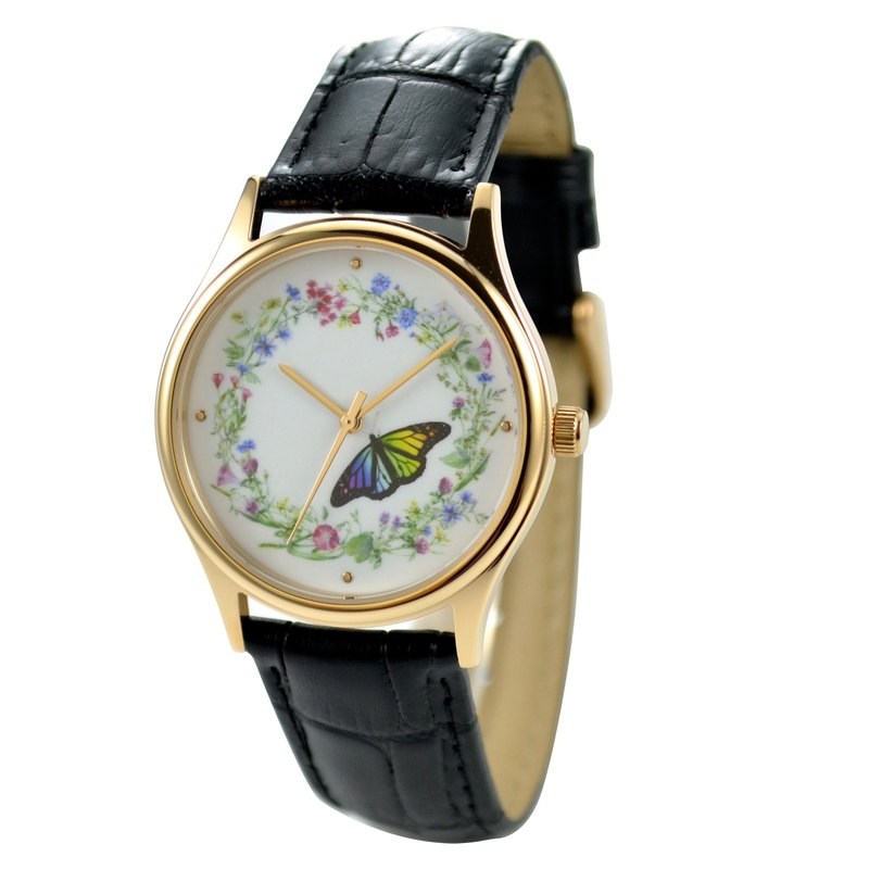 Flower and Butterfly Watch I Free shipping worldwide
