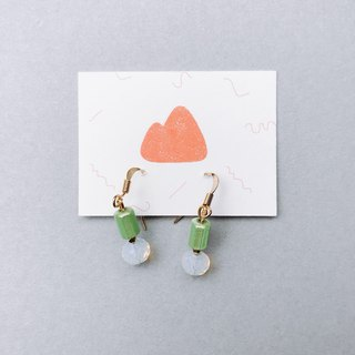 Germination - pin/clip earrings