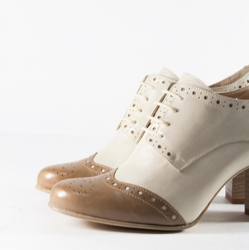 ITA BOTTEGA [Made in Italy] classic two-tone Chinese and Oxford shoes